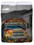 Chicken Bus - Antigua Guatemala Duvet Cover