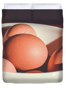 Chicken Eggs Duvet Cover
