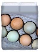 Chicken Eggs In Carton Duvet Cover