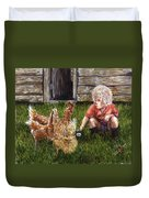 Chicken Feed Duvet Cover