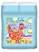 Chicken Of The Sea Duvet Cover