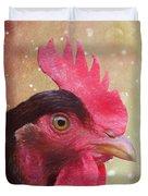 Chicken Portrait - Painting Duvet Cover
