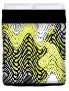 Chicken Scratch Abstract Duvet Cover