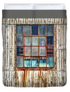 Chicken Wire Window Duvet Cover