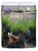 Chicken With Lavender  Duvet Cover
