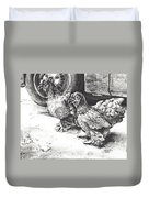 Chickens Crossing The Road Duvet Cover