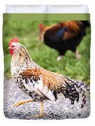 Chickens In Bird In Hand Duvet Cover