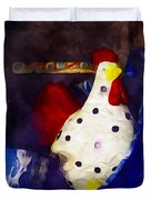 Chickens In The Kitchen Duvet Cover