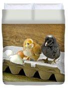 Chicks And Eggs Duvet Cover