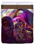 Chicks Hatched Fluffy Young Animal  Duvet Cover
