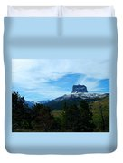 Chief Mountain, Emerging Duvet Cover