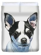Chihuahua Black Spots With White Duvet Cover