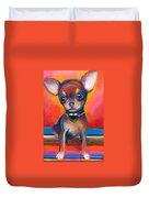 Chihuahua Dog Portrait Duvet Cover by Svetlana Novikova