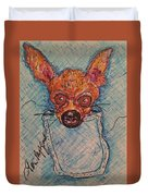 Chihuahua In A Pocket Duvet Cover