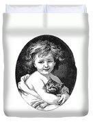 Child & Pet, 19th Century Duvet Cover