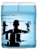 Child In A Fractured World Duvet Cover