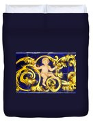 Child In Blue And Gold Duvet Cover
