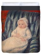 Child On A Sofa Duvet Cover by Mary Cassatt