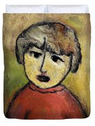 Child Portrait Duvet Cover