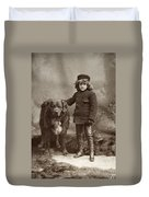 Child With Dog, C1885 Duvet Cover