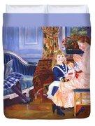 Children Afternoon At Wargemont Marguerite 1884 Duvet Cover