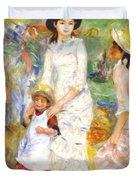 Children On The Seashore 1883 Duvet Cover