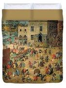 Children's Games Duvet Cover by Pieter the Elder Bruegel