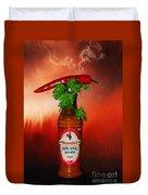 Chili Pepper, Coriander And Peri-peri By Kaye Menner Duvet Cover