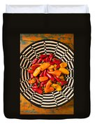 Chili Peppers In Basket  Duvet Cover
