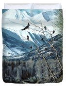 Chilkat River Eagles Duvet Cover