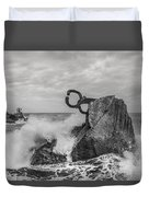 Chillidas Comb Of The Wind In San Sebastian Basque Country Spain  Duvet Cover