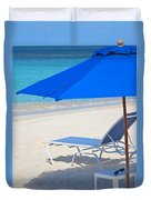 Chilling On The Beach Anguilla Caribbean Duvet Cover