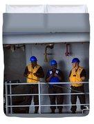 Chilling Sailors Duvet Cover