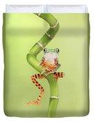 Chilling Tiger Leg Monkey Tree Frog Duvet Cover