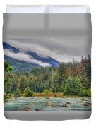 Chillkoot River Hdr Paint Duvet Cover