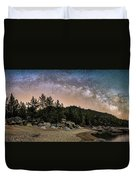 Chimney Beach With Milky Way Duvet Cover
