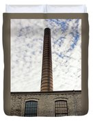 Chimney Of An Old Factory Duvet Cover