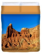 Chimney Rock At Capitol Reef Duvet Cover