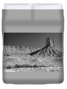 Chimney Rock In Black And White - Towaoc Colorado Duvet Cover
