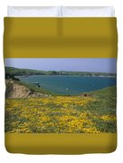 Chimney Rock Trail And Drakes Bay Duvet Cover