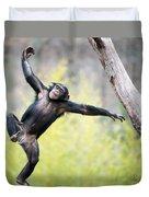 Chimp In Flight Duvet Cover