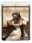Chimp In Gown  Duvet Cover