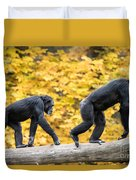 Chimpanzee Pair IIi Duvet Cover