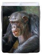 Chimpanzee Sitting Duvet Cover