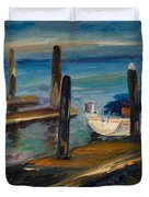 China Basin Docks Duvet Cover