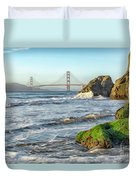 China Beach To The Golden Gate Duvet Cover