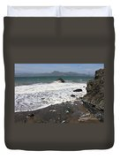 China Beach With Outgoing Wave Duvet Cover