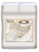 China: Fujian Map, 1662 Duvet Cover