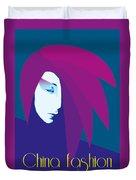 China Girl Blue Duvet Cover