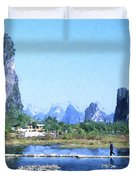 China, Guangxi Province, Guilin Duvet Cover